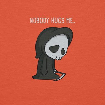 Planet Nerd - Nobody Hugs Me - Herren T-Shirt Orange