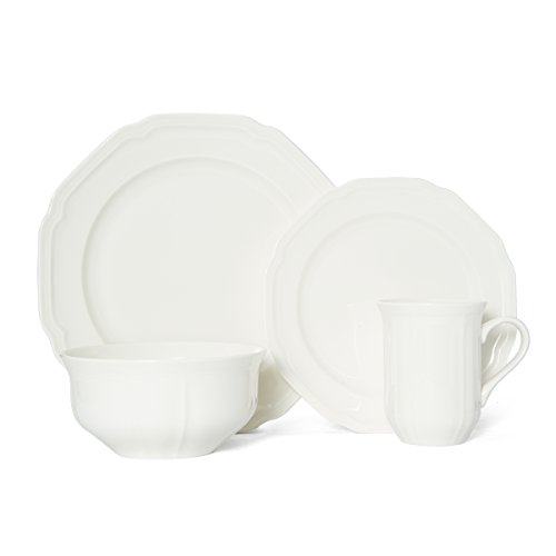Mikasa Antique White 4-Piece Place Setting, Service for 1 Mikasa Antique White China
