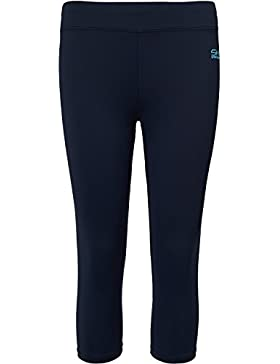 Sportkind Mädchen & Damen Tennis / Fitness / Sport 3/4 Leggings, navy blau, Gr. 146