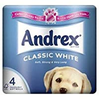 Andrex Toilet Tissue White Size X 4 Roll 010229 - Packaging May Vary
