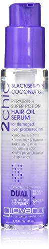 Giovanni Cosmetics 2Chic Blackberry & Coconut Milk Hair Oil Serum, 2.75 Oz