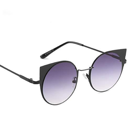 SANFASHION Unisex Schick Klassische Retro Metallbrücken Runde Verspiegelt Sonnenbrille für Damen...