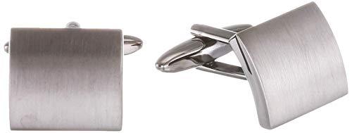 Seidensticker Herren Manschettenknöpfe, Silber (Se 34.267 Gm1 01), One Size (Herstellergröße:)