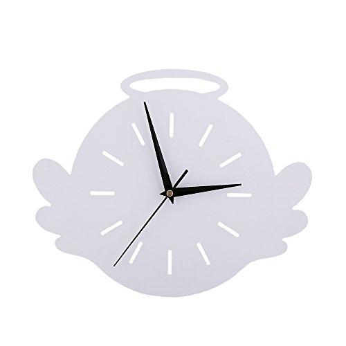 Ange Horloge murale Chambre d'enfant Chambre Horloge silencieuse Belle famille Décoration Boutique