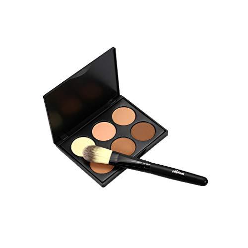 Concealer Palettes, Fulltime® MIni 6 Couleurs Base De Crème De Maquillage Palettes Mat Le Contour Du Visage Cosmétique Contour Palette Anti-cernes (B)