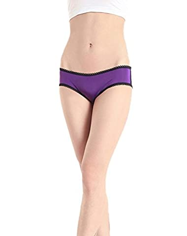 Dou7ble Li Women's Sexy Lingerie Breifs Hollow Satin bow Thongs Panties Underwear