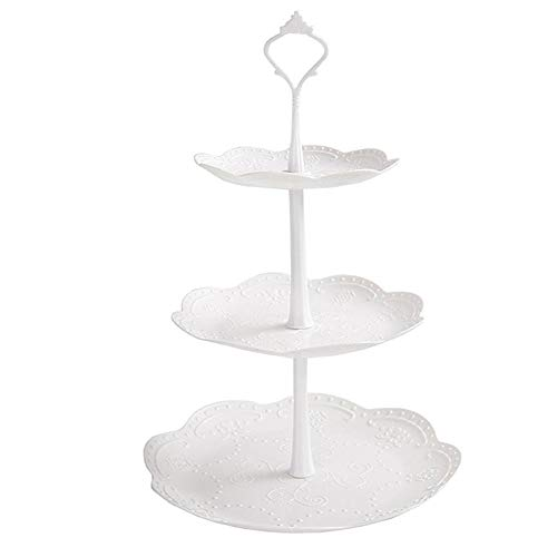 Househome–Soporte para Pasteles (3Niveles,–Expositor de Cupcake acrílico Tour de Fiesta de Boda Redonda de Maypole, a, 3 rangées rondes