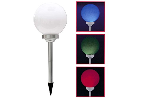 Leuchtkugel LED mit Farbwechsler 25 cm Solar Garten