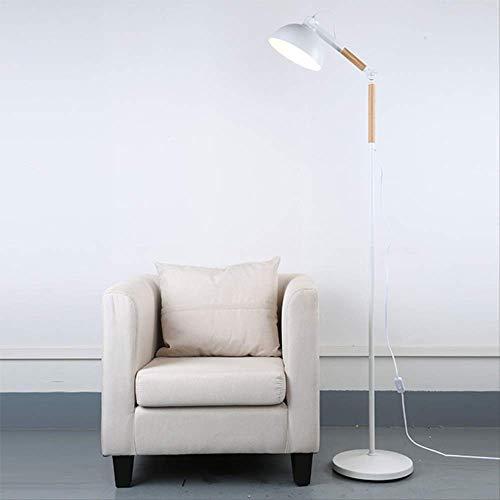 Einfache Persönlichkeit Boden bis zur Decke Leuchten kreative Boden bis zur Decke Leuchten Massivholz Café Lampe Schlafzimmer Restaurant Sofa Boden bis zur Decke Lampe 25-40 Weiß (Zur Decke Boden Lampe Bis)