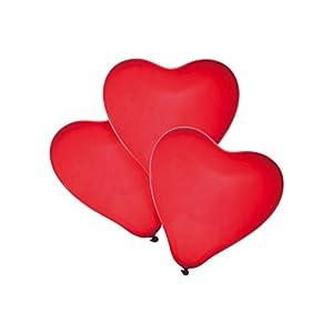 SUSY CARD Globos 40011363 de Corazones, 50 Unidades, Color Rojo.