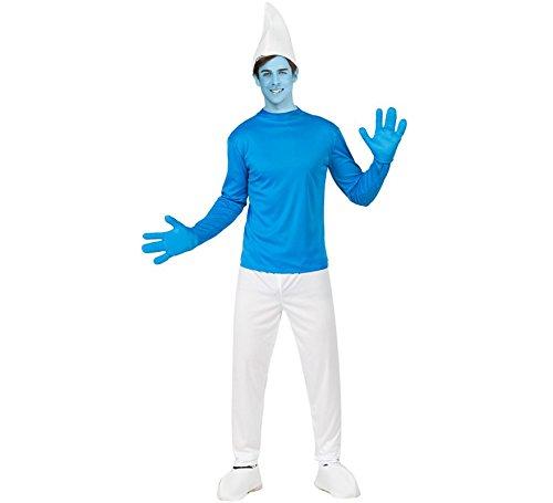 Schlumpf M-L Kostüm (Papa Schlumpf Kostüm Für Erwachsene)