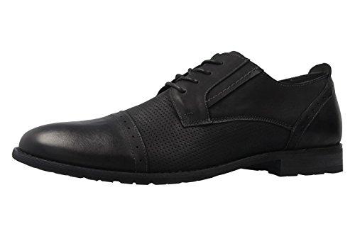 Boras , Chaussures de ville à lacets pour homme Schwarz