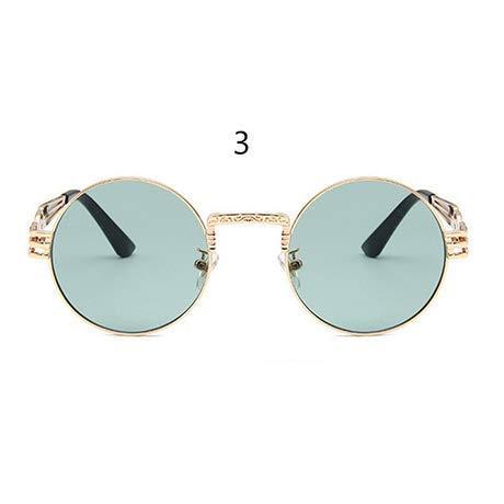 GFF Sonnenbrillen Männer Frauen Metal Wrap Brillen Round Shades Sonnenbrillen Spiegel UV400