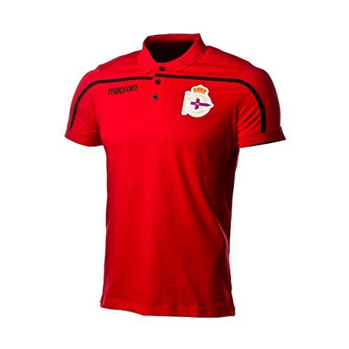 Macron RC Deportivo La Coruña 2018-2019, Polo, Red-Black, Talla L