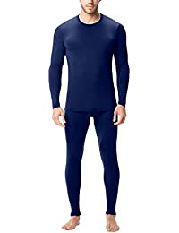 LAPASA Uomo Set Intimo Termico - Ti Tiene al Caldo Senza Stress- T-Shirt Maniche Lunghe & Pantaloni Invernali Lightweight M11
