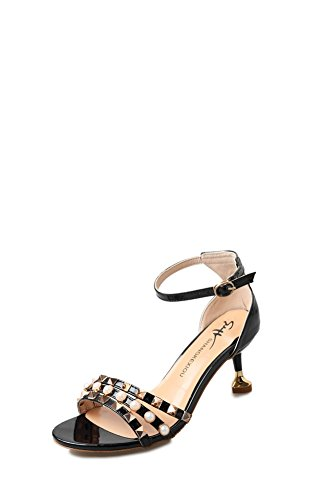 Vetro di colore puro di gomma estiva con i sandali/Open toe tacco alto sandali B