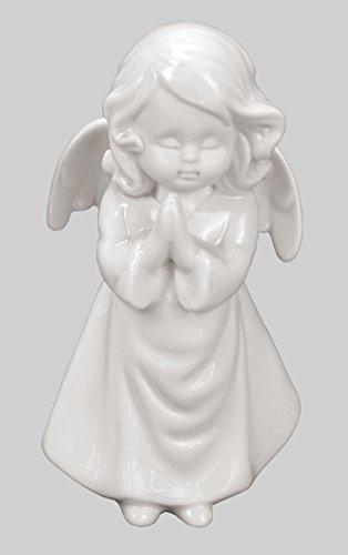 Klp Engel Schutzengel Porzellan Dekofigur Skulptur Statue Weihnachts Deko Figur Elfe (Engel-garten Statue Betender)