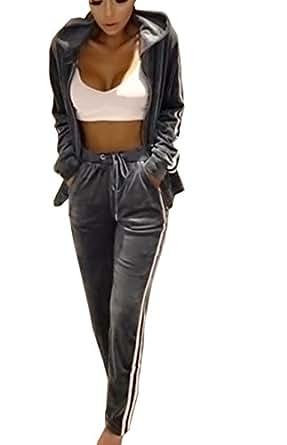 0d0c957366f1 Emma Survêtement pour Femme Velvet Suit Suit Stripe Jumpsuit Suit Jogging  Suit Costume de Bien-