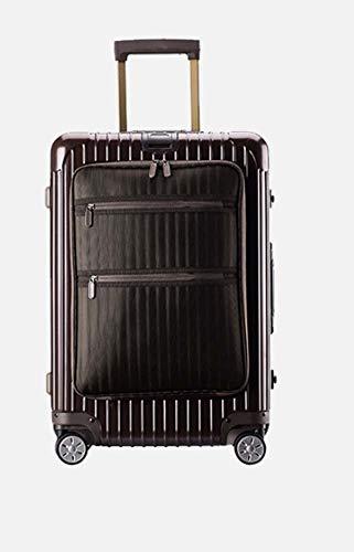 Trolley-Koffer-Rotierender Radkoffer-Leichter Koffer-Koffer, Luxus, modern-Kabinenkoffer (28 inches,Brown)