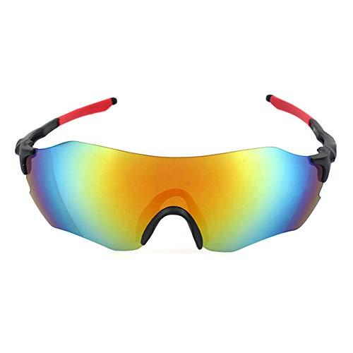 CHIRORO Polarisierte Sport Sonnenbrille Fahrradbrille Radbrille Sportbrille Herren Damen für Radfahren Laufen Fahren Angeln Golf Baseball Brillen,rot