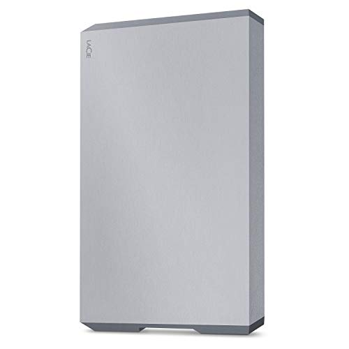 LaCie Mobile External Hard Drive HDD - Moon Silver