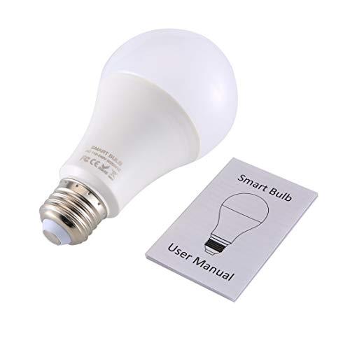 Weihan Q9W Smart Wi-Fi-Glühlampe RGB magische Glühlampe-Lampen-Wake-Up-Leuchten Fernbedienung für Alexa/Google-Startseite Assistent APP weiß