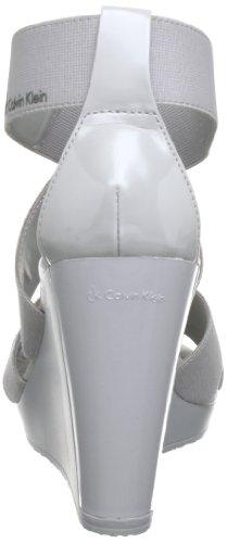 Calvin Klein UMIKA SHINY ELASTIC PATENT N11074 Damen Sandal Grau (STS)
