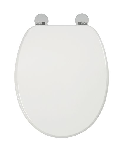 Croydex Flexi-Fix Kielder Always Fits Never Slips Toilet Seat, Wood, White, 45 x 37.5 x 6 cm Best Price and Cheapest