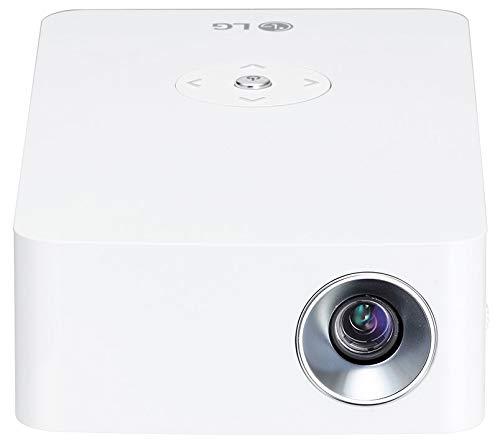 LG Beamer PH30JG bis 254 cm (100 Zoll) CineBeam Native HD LED Projektor (250 Lumen, Auto Keystone, integrierter Akku), weiß -