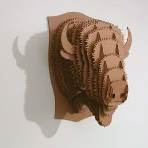 XTRADEFACTORY pUZZLE 3D sAFARI trophée tête de cerf en bois billy au bison mED