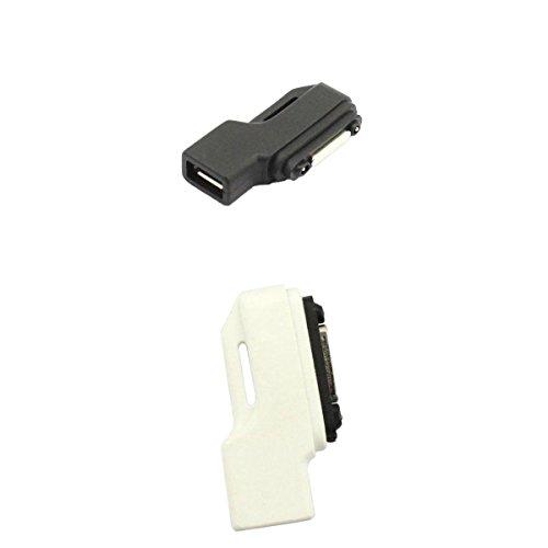 MagiDeal 2X Adattatore da Micro USB A Caricatore Magnetico per Sony Xperia Z1 Z2 Z3 Compact