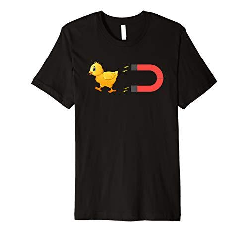 Funny Chicken Farmer Chick Magnet Shirt Men Women Kids Gift -