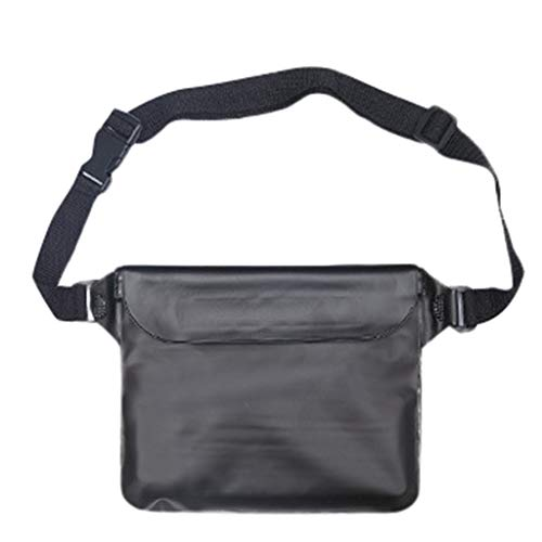 BaZhaHei Bolsa impermeable Al aire libre impermeable bolsillo impermeable bolsillo bolsa impermeable nuevo color sólido grande a la deriva bolsa impermeable blanco amarillo rojo verde azul negro rosa