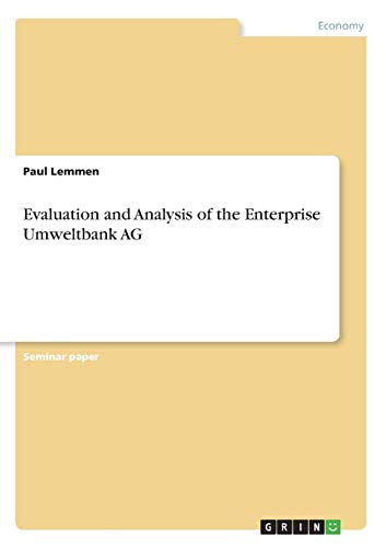 Evaluation and Analysis of the Enterprise Umweltbank AG