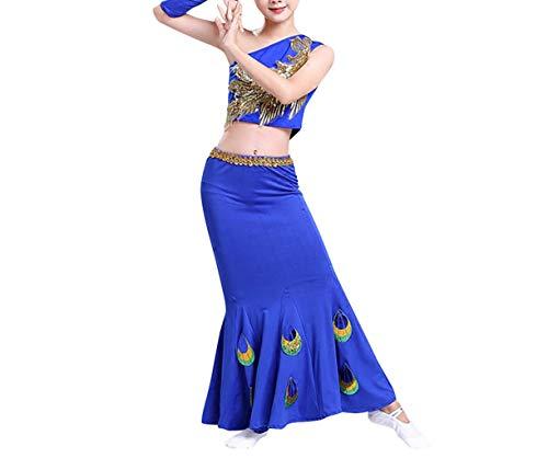 Kostüm Tanz Folk Kinder - Fuyingda New Kindertanzkleidung Dai Dance BauchtanzFolk Dance Kostüm Stretch Fishtail Rock Peacock Dance Performance Kostüm Belly Girl Modern Dance