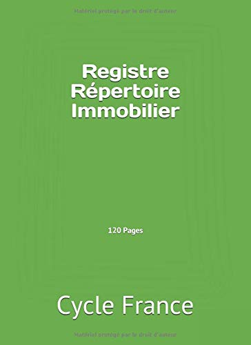 Registre Répertoire Immobilier 120 Pages par  Cycle France
