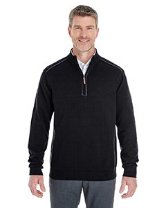 Price comparison product image Men's Manchester Fully-Fashioned Quarter-Zip Sweater BLACK/ GRAPHITE S