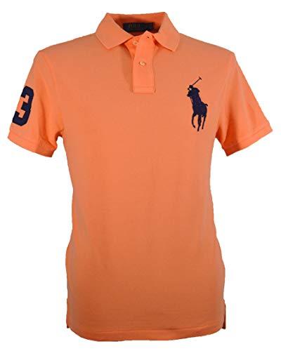 Ralph Lauren Custom Slim Fit Polo - Big Pony - Orange (Orange, XL) -