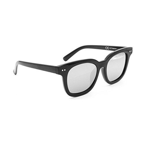 Occhiali da sole marca isurf modello squarest deep 2018 fashion outfit quadrati (specchio argento)