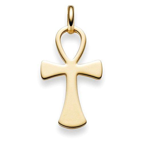 Anhänger ägyptischer Kreuz Leben & Wiedergeburt 585 Gold Gelbgold 31x15mm