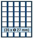 SAFE 6327 TABLEAUS NOVA 35 x 27 mm ECKIGE FÄCHER - IDEAL FÜR 2 EURO / DM / ZLOTY & US PRESIDENTIAL DOLLARS & FÜR MÜNZEN BIS 27 mm & IN MÜNZKAPSELN BIS CAPS 21,5 - PASST FÜR NOVA - NOVA EXQUISITE - HOLZ KASSETTEN 5883 – WURZELHOLZ KASSETTEN 5883 - MÜNZKOFFER 176 - 172 - 173 - 174 - 175 - 177 - 179 - 276