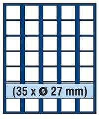 SAFE 6327 TABLEAUS NOVA 35 x 27 mm ECKIGE FÄCHER - IDEAL FÜR 2 EURO / DM / ZLOTY & US PRESIDENTIAL DOLLARS & FÜR MÜNZEN BIS 27 mm & IN MÜNZKAPSELN BIS CAPS 21,5 - PASST FÜR NOVA - NOVA EXQUISITE - HOLZ KASSETTEN 5883 - WURZELHOLZ KASSETTEN 5883 - MÜNZKOFFER 176 - 172 - 173 - 174 - 175 - 177 - 179 - 276 (Münzen Presidential Dollar)