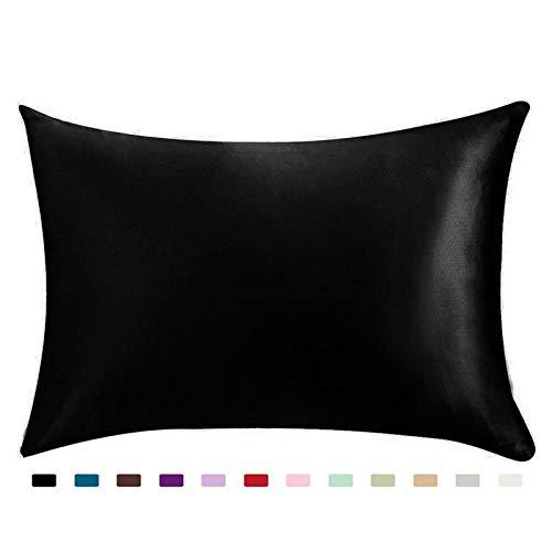 MOLUO Kissen 100% Königin Standard Satin Silk Soft Mulberry Plain Kissenbezug Stuhl Sitz Platz Kissenbezug Home @ A -