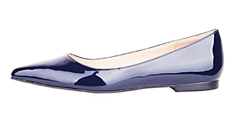 Verocara Women's Classic Pointy Toe Ballet Slip On Flats Comfort