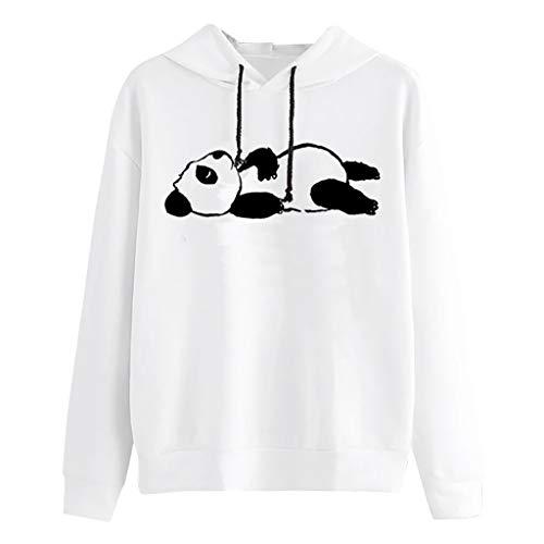 Kapuzenpullover Damen Sexy Hoodies Süßes Gedrucktes Langarmshirt Student Pullover Einfach Sport Langarm T-Shirt mit Kapuze Tops Freizeit Pulli Frauen Sweatshirt ABsoar -