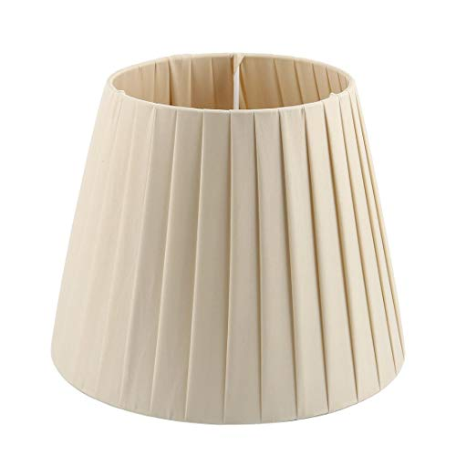 ZCHXD Lampshade Wall Bedside Floor Lamp Shade Light Cover 6.3x9.4x7.5 Inch (Slip UNO Fitter) Beige Burgund Slip
