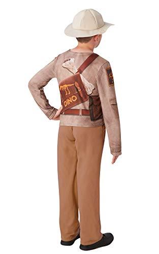 Rubie's 640788 9–10 Offizielles Dino-Explorer-Kostüm, Safari-Dschungel-Zoo-Kostüm, Kinder-Kostüm, Größe 9–10 Jahre, Unisex, Mehrfarbig, ()