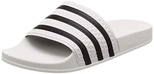adidas ADILETTE Ciabatte Unisex - Adulto, Bianco (White/Black1/White), 42