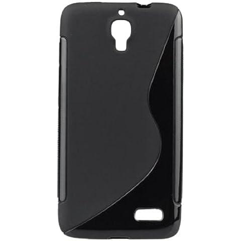 Bluetrade BT-TPU-ALOT6030 - Funda TPU para Alcatel One Touch Idol 603, color negro