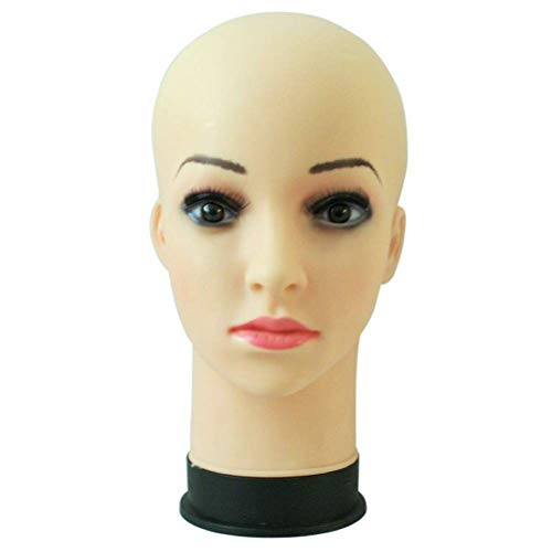 Kosmetologie Ausbildung Glatze Schaufensterpuppe Kopf Stehen Modell für Perücke Brille Hut Display 1#